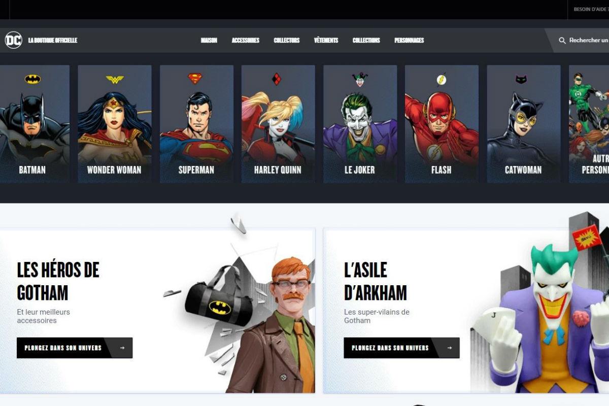 Warner Bros. crée une e-boutique DC Comics