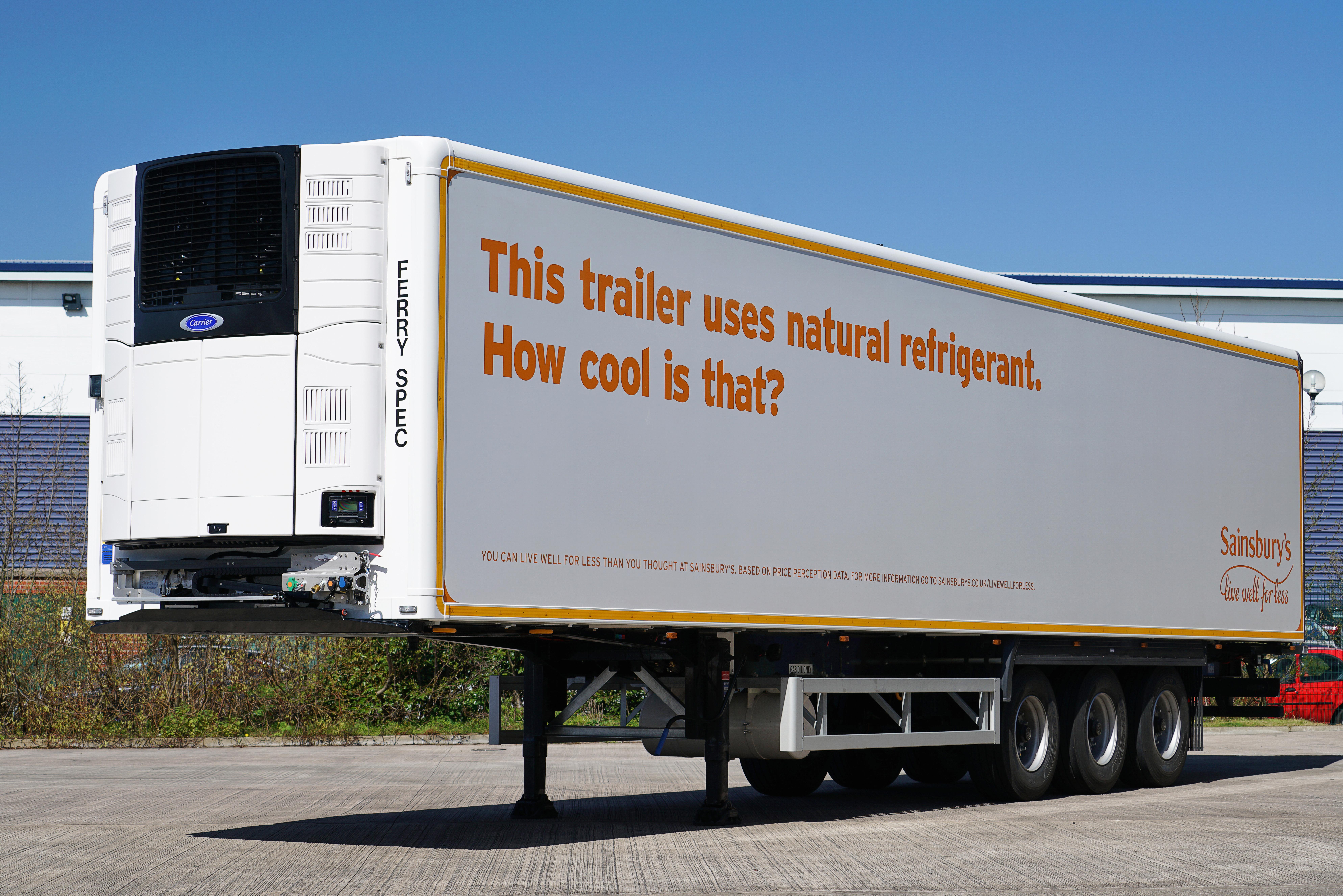 Sainsbury S Teste Un Camion Frigorifique De