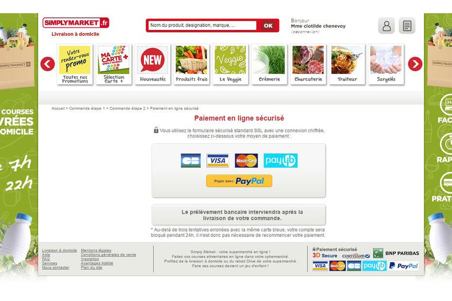 Carte Accord Auchan Bloque.Simplymarket Fr Propose A Ses Clients Paypal