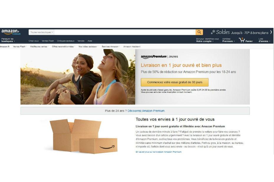amazon premium moiti prix pour les jeunes. Black Bedroom Furniture Sets. Home Design Ideas