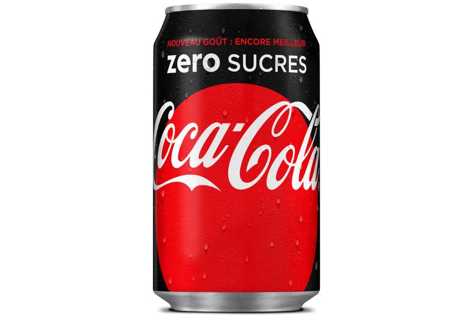 Bien-aimé Coca-Cola zero devient Coca-Cola zero sucres ZC74