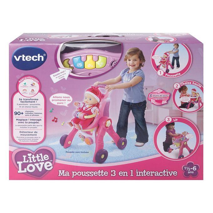 Little love ma poussette 3 en 1 interactive de vtech de - Ma fille de 5 ans fait encore pipi au lit ...