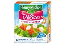10 bâtonnets Délices de Surimi à la Chair de Gambas de Fleury Michon