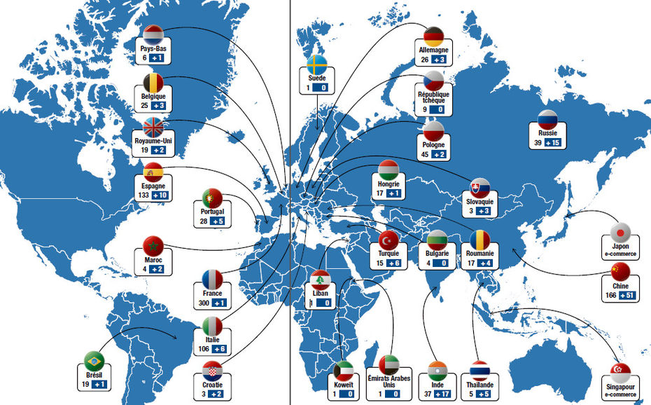 Un r seau mondial dense et diversifi dossiers lsa conso for Les magasins du monde