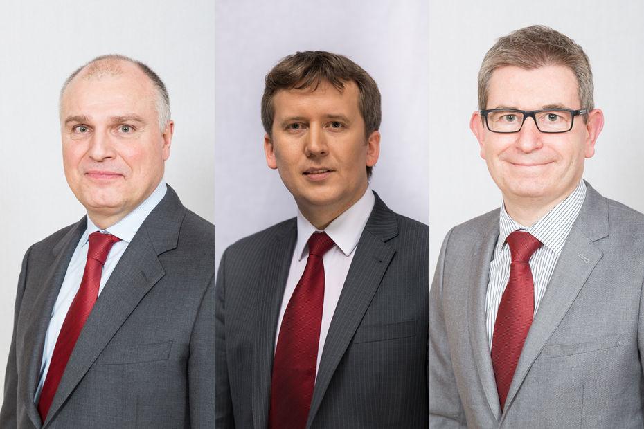 De gauche à droite : François Rémy, Oleg Alkhamov et Ludovic Holinier.