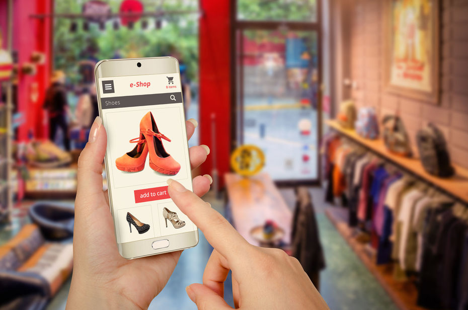 45836838 - online shopping with smart phone in woman hand