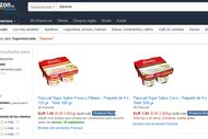 Capture d'écran du site Amazon.es