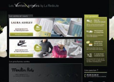 la redoute lance son site de ventes priv es textile habillement. Black Bedroom Furniture Sets. Home Design Ideas