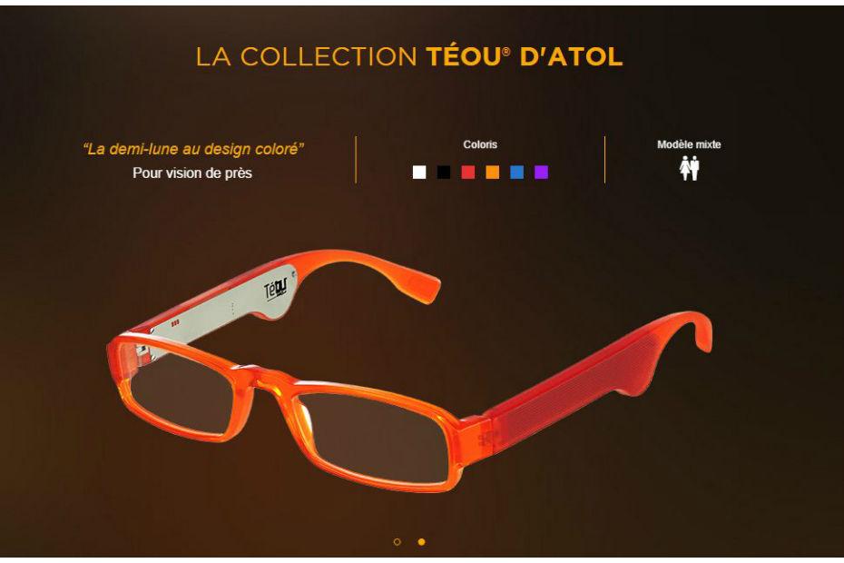 La gamme de lunettes connectées Téou est disponible dans les magasins Atol, à partir de 199 euros, en six coloris.