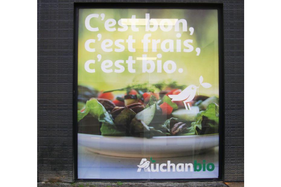 La façade du futur Auchan Bio de Marquette-lez-Lille, encore en travaux.