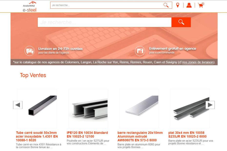 ArcelorMittal va vendre des barres (d'acier) en ligne