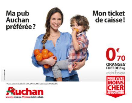 Auchan lance sa nouvelle campagne de pub for Email auchan