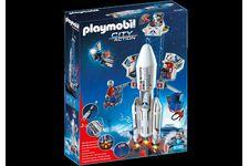 Base de lancement avec fusée de Playmobil