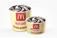 McFlurry Mini Toblerone McDonald's