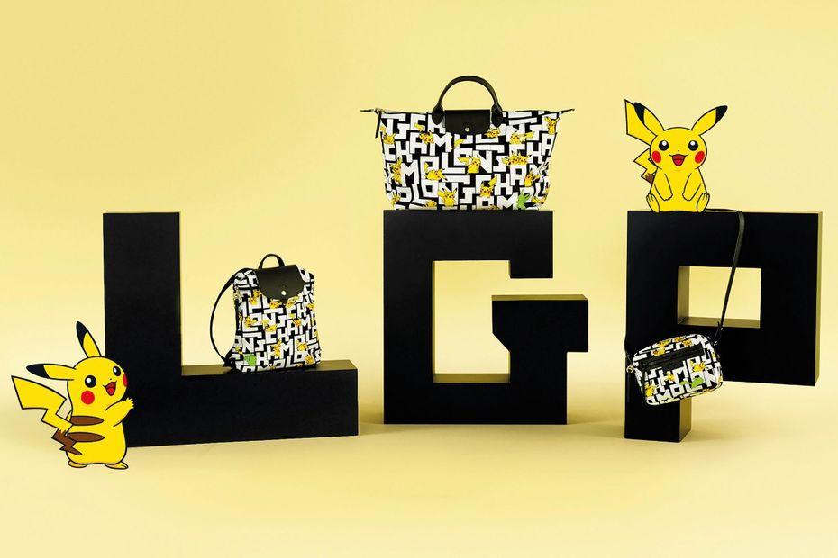 Des Pokémon sur les sacs Longchamp - textile