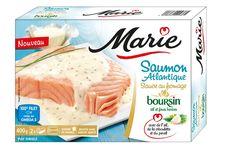 Saumon atlantique sauce au fromage Boursin ail et fines herbes de Marie