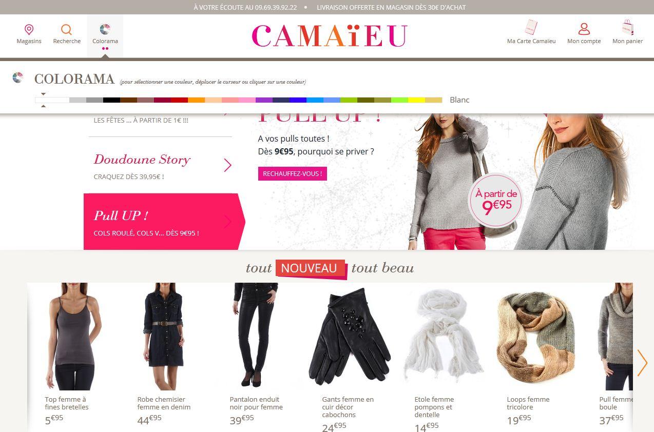 Avec son nouveau site marchand, Camaïeu accompagne davantage ses clientes
