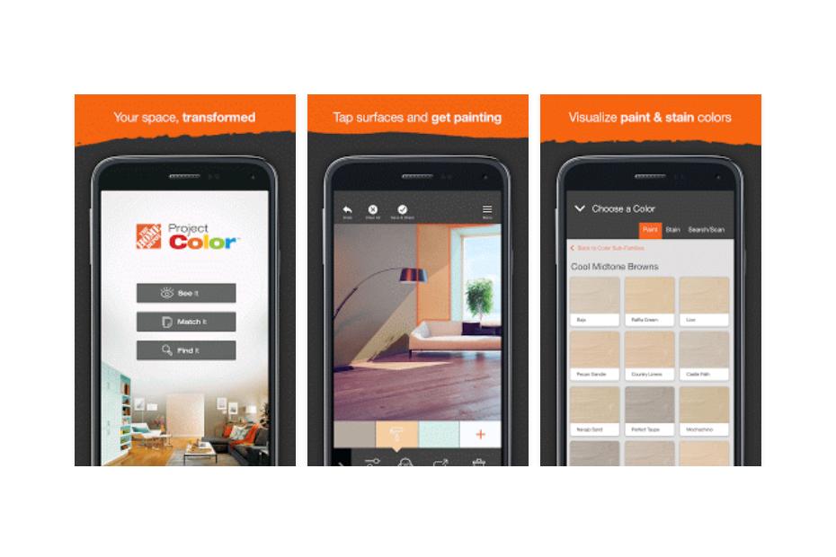 Home depot lance une appli mobile pour choisir - Choisir une couleur de peinture ...
