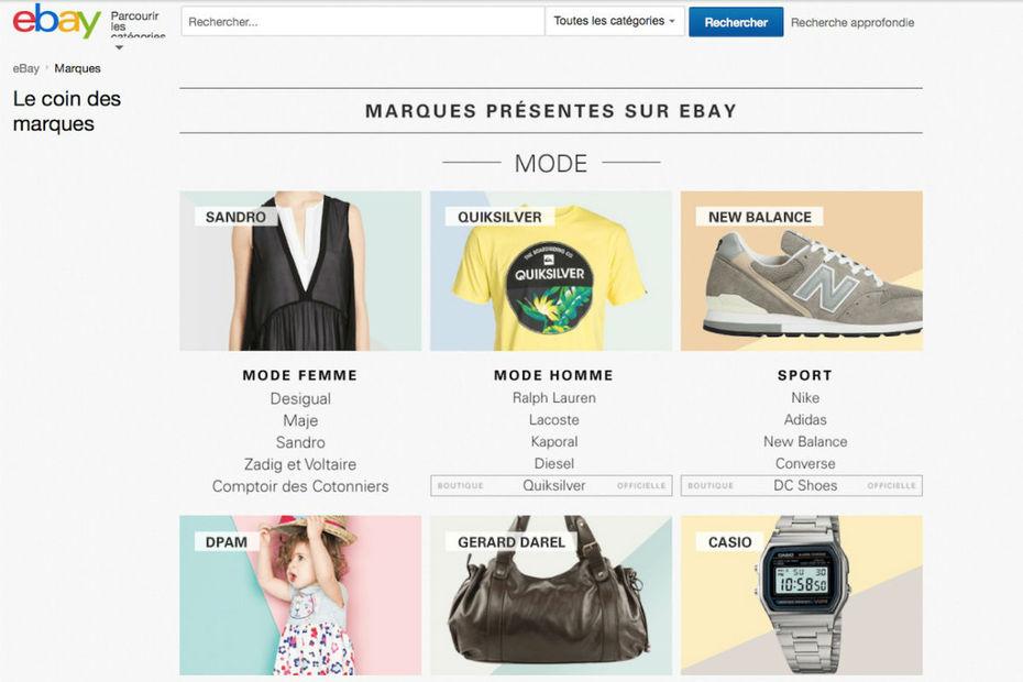 ebay lance le coin des marques. Black Bedroom Furniture Sets. Home Design Ideas