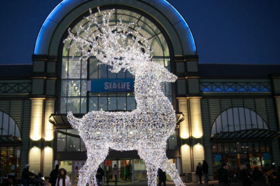 rennes noel lumineux Un renne illuminé pour le Père Noël à Val d'Europe rennes noel lumineux