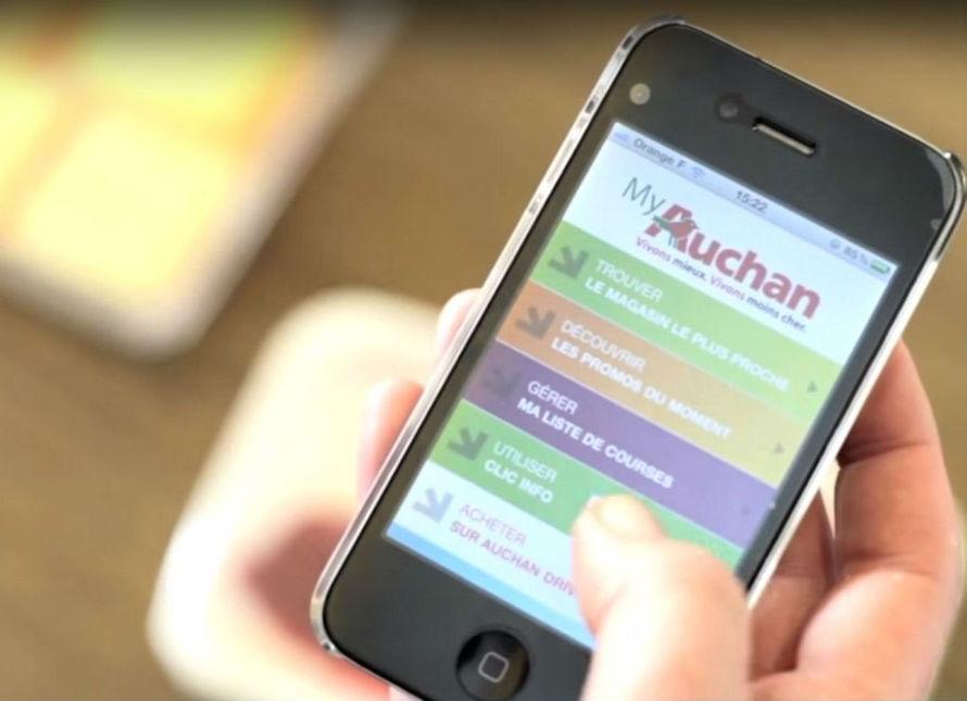 Un tiers des commandes du drive sont finalisées sur les applications mobiles d'Auchan.