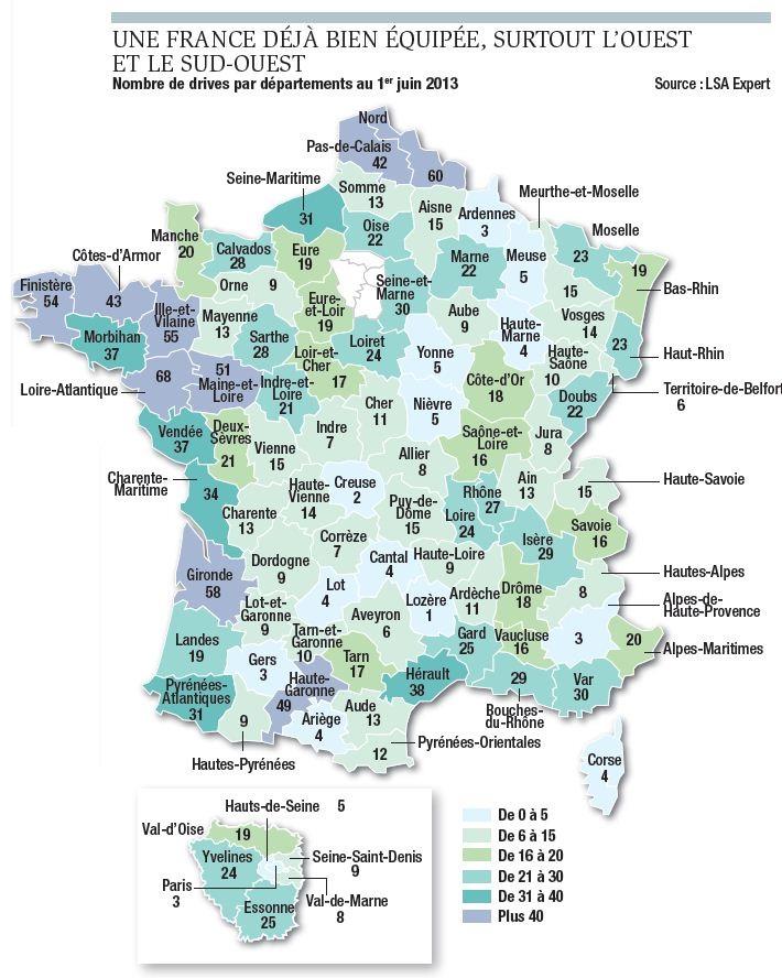 La france du drive en infographies tableaux - Carte de fidelite auchan fr ...