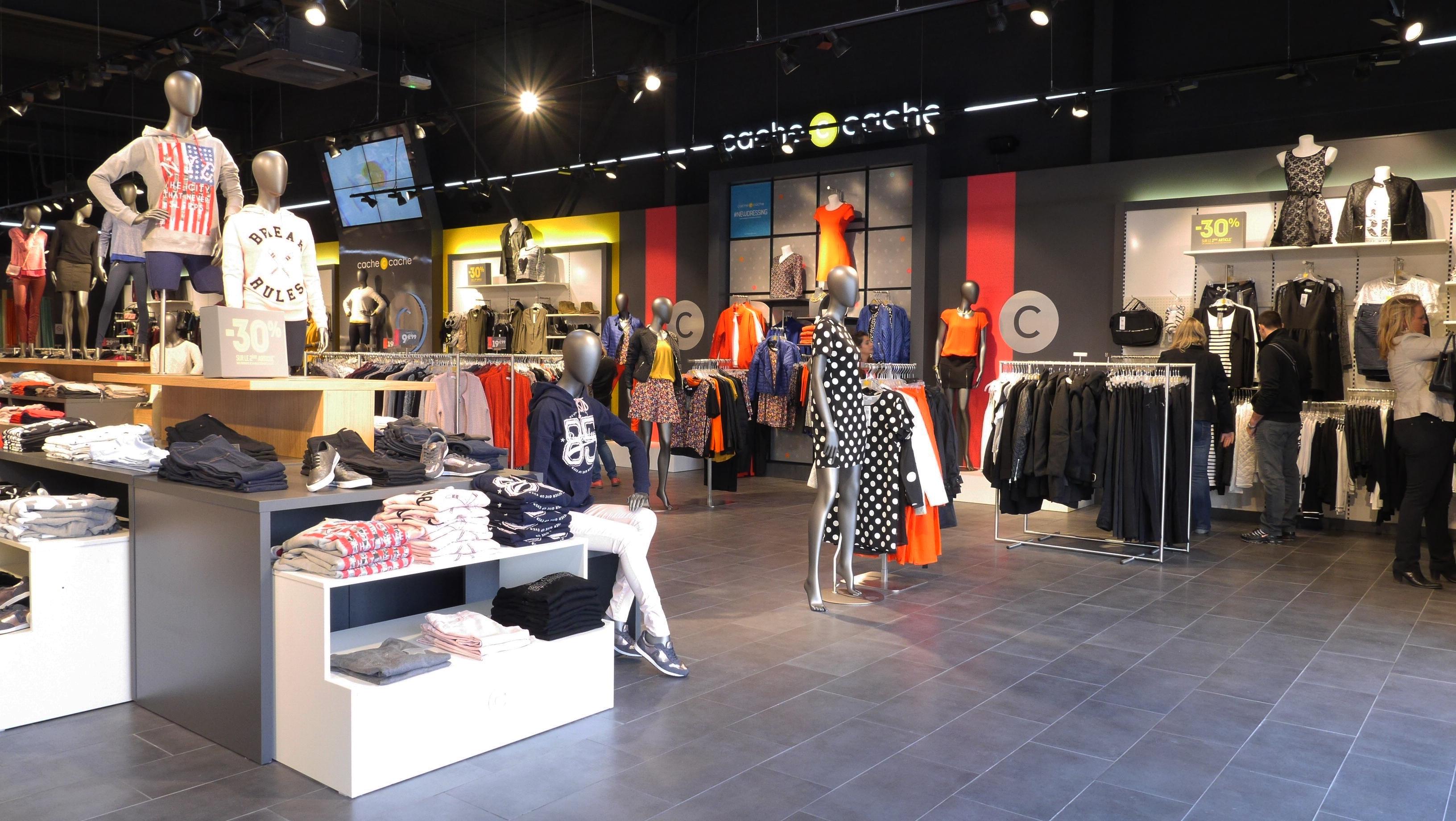 Cache cache fait entrer m pokora pour la textile habillement - La redoute interieur magasin ...