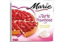 La tarte aux framboises – crème fouettée à la vanille de Marie